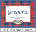 Significado y origen de Gregorio para imprimir