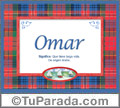 Significado y origen de Omar para imprimir