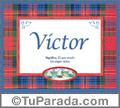 Significado y origen de Victor para imprimir