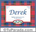Derek, nombre, significado y origen de nombres