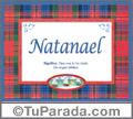 Significado y origen de Natanael para imprimir