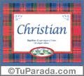 Christian, nombre, significado y origen de nombres