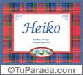 Nombre Tarjeta con imagen de Heiko para feliz cumpleaños