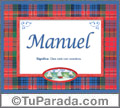 Manuel, nombre, significado y origen de nombres