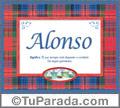 Alonso, nombre, significado y origen de nombres