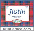 Justin, nombre, significado y origen de nombres