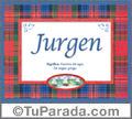 Jurgen, nombre, significado y origen de nombres