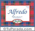 Significado y origen de Alfredo para imprimir