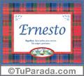Significado y origen de Ernesto para imprimir