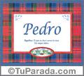 Significado y origen de Pedro para imprimir
