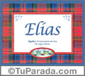Nombre Tarjeta con imagen de Elías para feliz cumpleaños