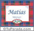 Significado y origen de Matías para imprimir