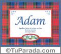 Adam, nombre, significado y origen de nombres