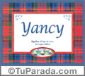 Significado y origen de Yancy para imprimir