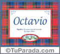 Significado y origen de Octavio para imprimir