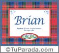 Brian, nombre, significado y origen de nombres