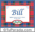 Nombre Tarjeta con imagen de Bill para feliz cumpleaños
