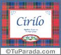 Significado y origen de Cirilo para imprimir