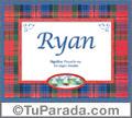Nombre Tarjeta con imagen de Ryan para feliz cumpleaños