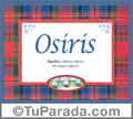 Osiris, nombre, significado y origen de nombres