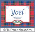 Significado y origen de Yoel para imprimir