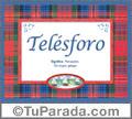 Nombre Tarjeta con imagen de Telésforo para feliz cumpleaños