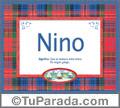 Nino, nombre, significado y origen de nombres