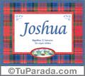 Significado y origen de Joshua para imprimir