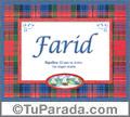 Farid, nombre, significado y origen de nombres