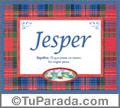 Jesper, nombre, significado y origen de nombres