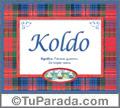 Nombre Tarjeta con imagen de Koldo para feliz cumpleaños