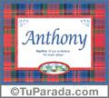 Anthony, nombre, significado y origen de nombres