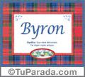 Byron, nombre, significado y origen de nombres