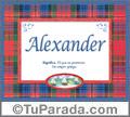 Significado y origen de Alexander para imprimir