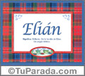 Significado y origen de Elián para imprimir