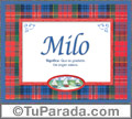 Significado y origen de Milo para imprimir