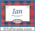 Significado y origen de Ian para imprimir