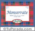 Nombre Tarjeta con imagen de Monserrate para feliz cumpleaños