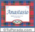 Anastasio, nombre, significado y origen de nombres