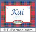 Kai, nombre, significado y origen de nombres