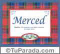 Merced, nombre, significado y origen de nombres