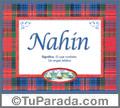 Nahin, nombre, significado y origen de nombres