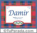 Nombre Tarjeta con imagen de Damir para feliz cumpleaños