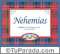 Nombre Tarjeta con imagen de Nehemías para feliz cumpleaños