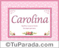 Carolina - Significado y origen