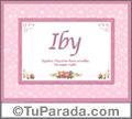 Iby - Significado y origen