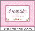 Ascensión - Significado y origen