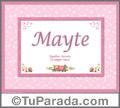 Mayte - Significado y origen