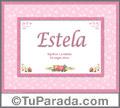 Estela - Significado y origen