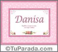 Danisa - Significado y origen